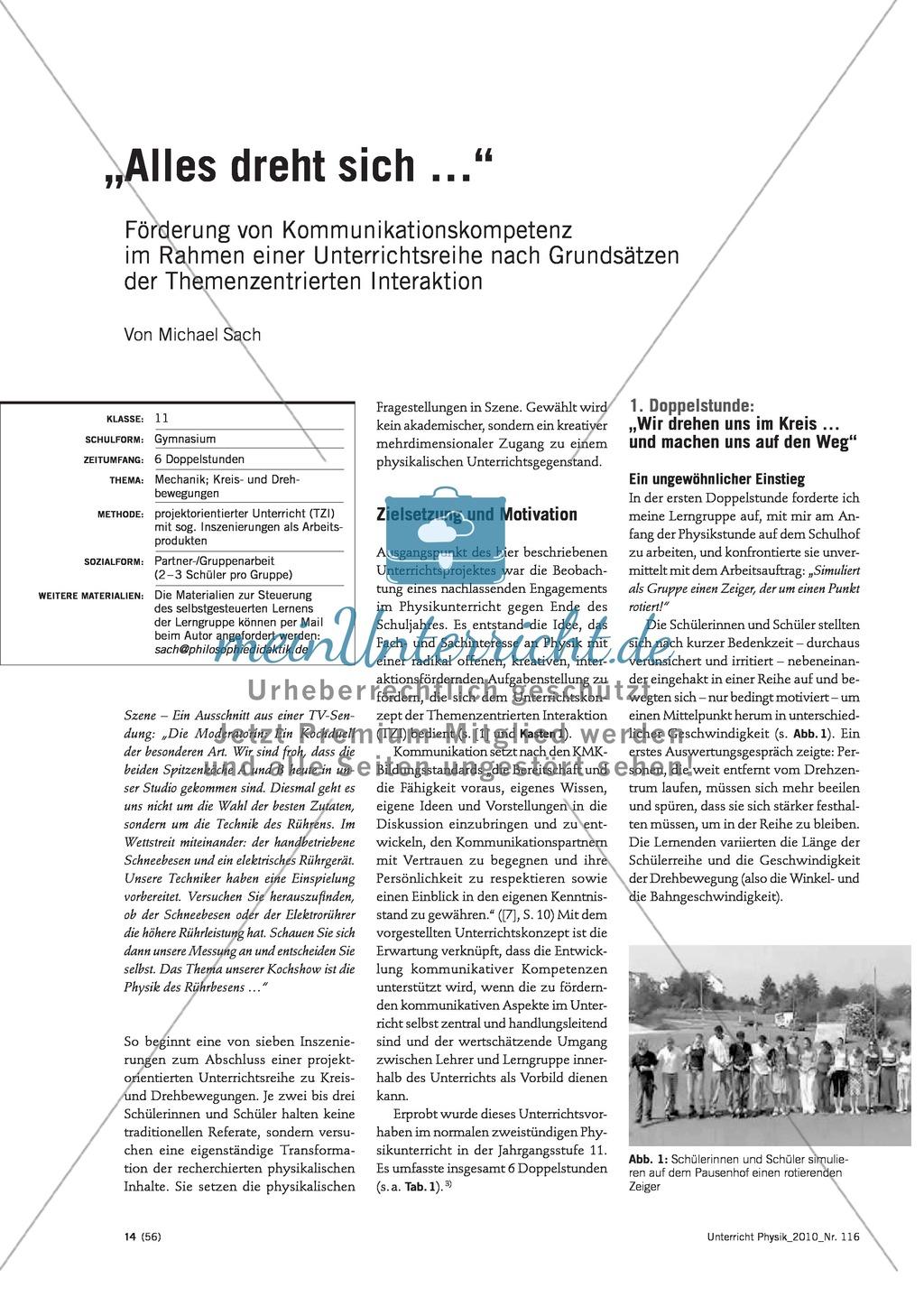 Infotext: Unterrichtseinheiten zur Förderung der Kommunikationskompetenz  entwerfen Preview 0