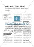 Think – Pair – Share – Create - Ein für die Differenzierung unersetzliches Methoden-Werkzeug Preview 1