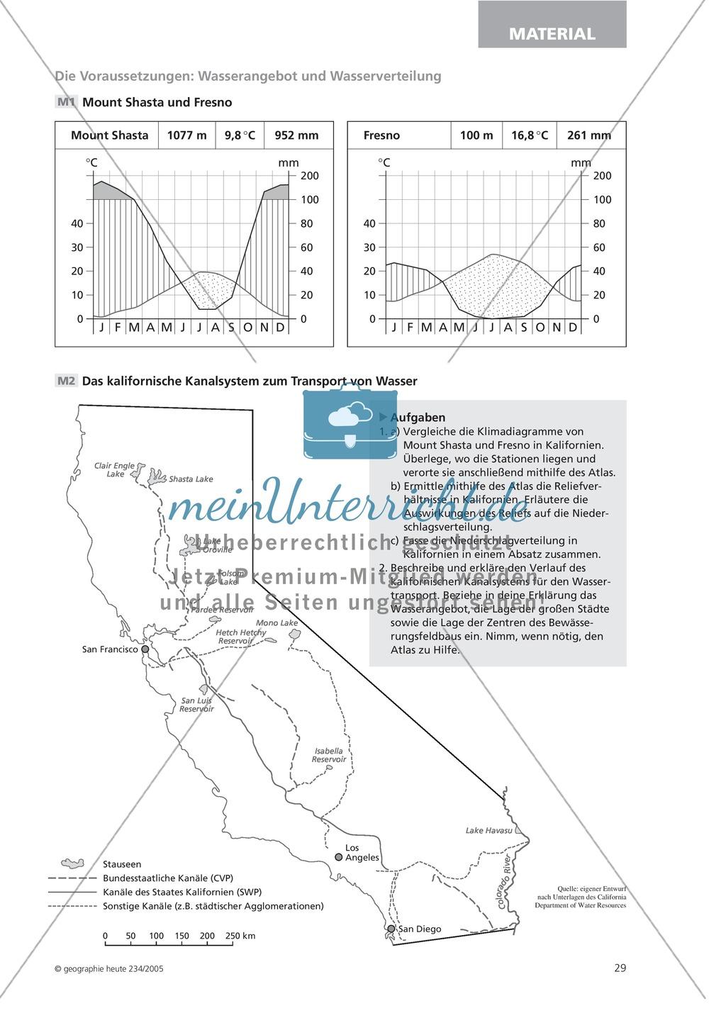 Die Landwirtschaft der USA: Nutzungskonflikte - Wasserknappheit in Kalifornien Preview 3