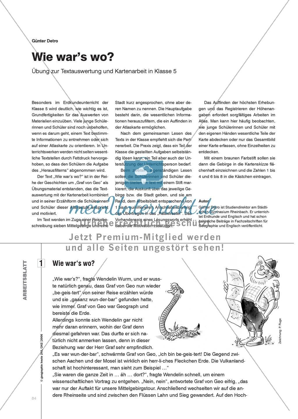 Klimawandel: Übungen zur Auswertung von Texten und der Arbeit mit Karten Preview 0