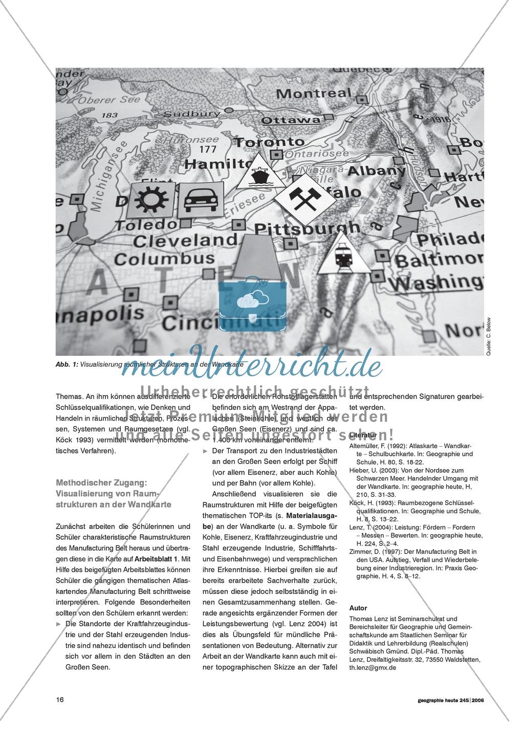 Die Wandkarte im Geographieunterricht : Visualisierung von Raumstrukturen Preview 1