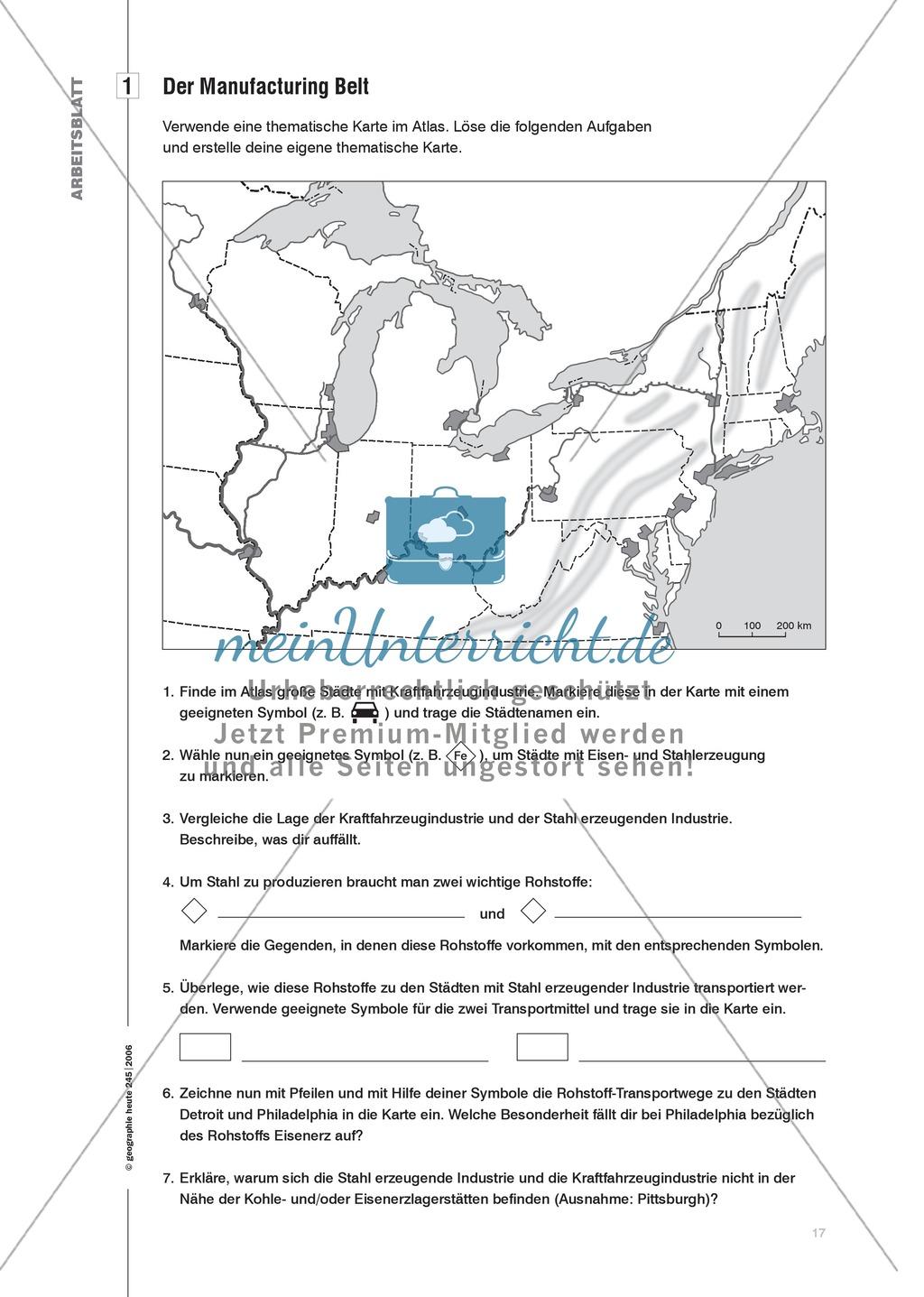 Die Wandkarte im Geographieunterricht : Visualisierung von Raumstrukturen Preview 2