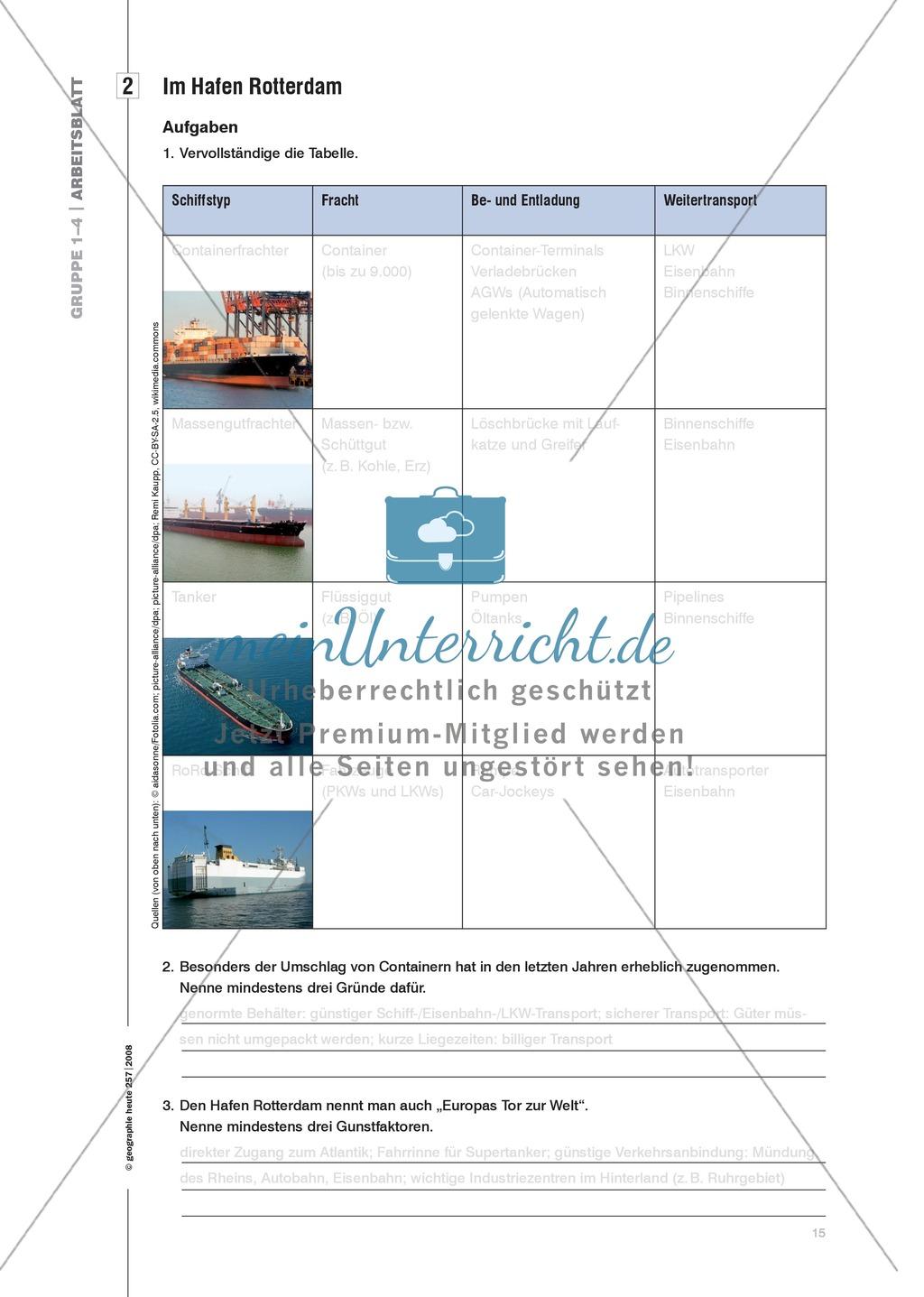 Eine Hafenlandschaft am Beispiel des Hafens Rotterdam kennenlernen Preview 7