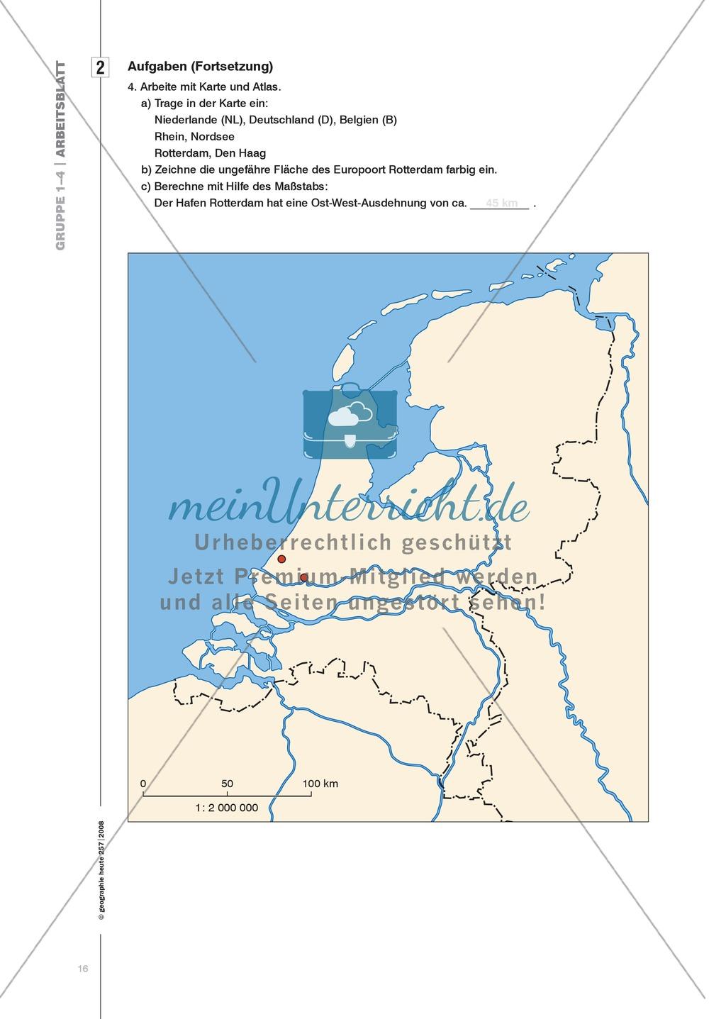 Eine Hafenlandschaft am Beispiel des Hafens Rotterdam kennenlernen Preview 8