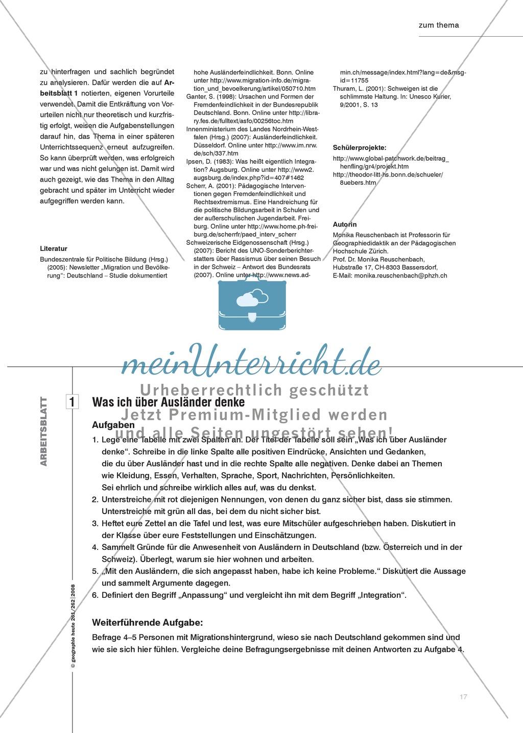 Fremdenfeindlichkeit: Vorurteile kritisch hinterfragen Preview 3