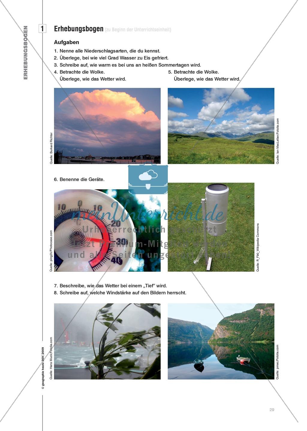 Wetterbeobachtungen durchführen und Klimadiagramme erstellen Preview 5