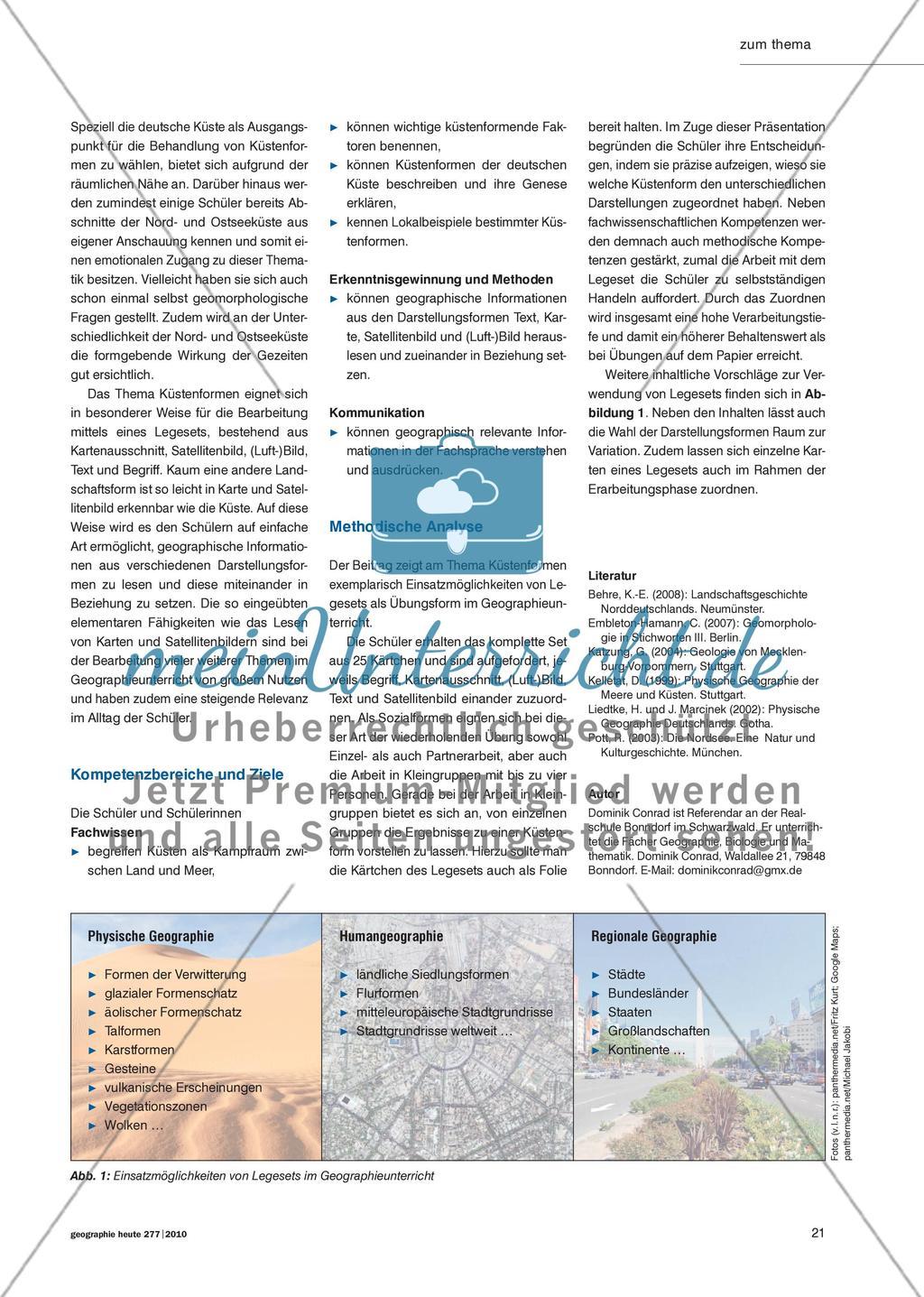Küstenformen der deutschen Nord- und Ostseeküste - Nachhaltig Üben mit Legesets Preview 2