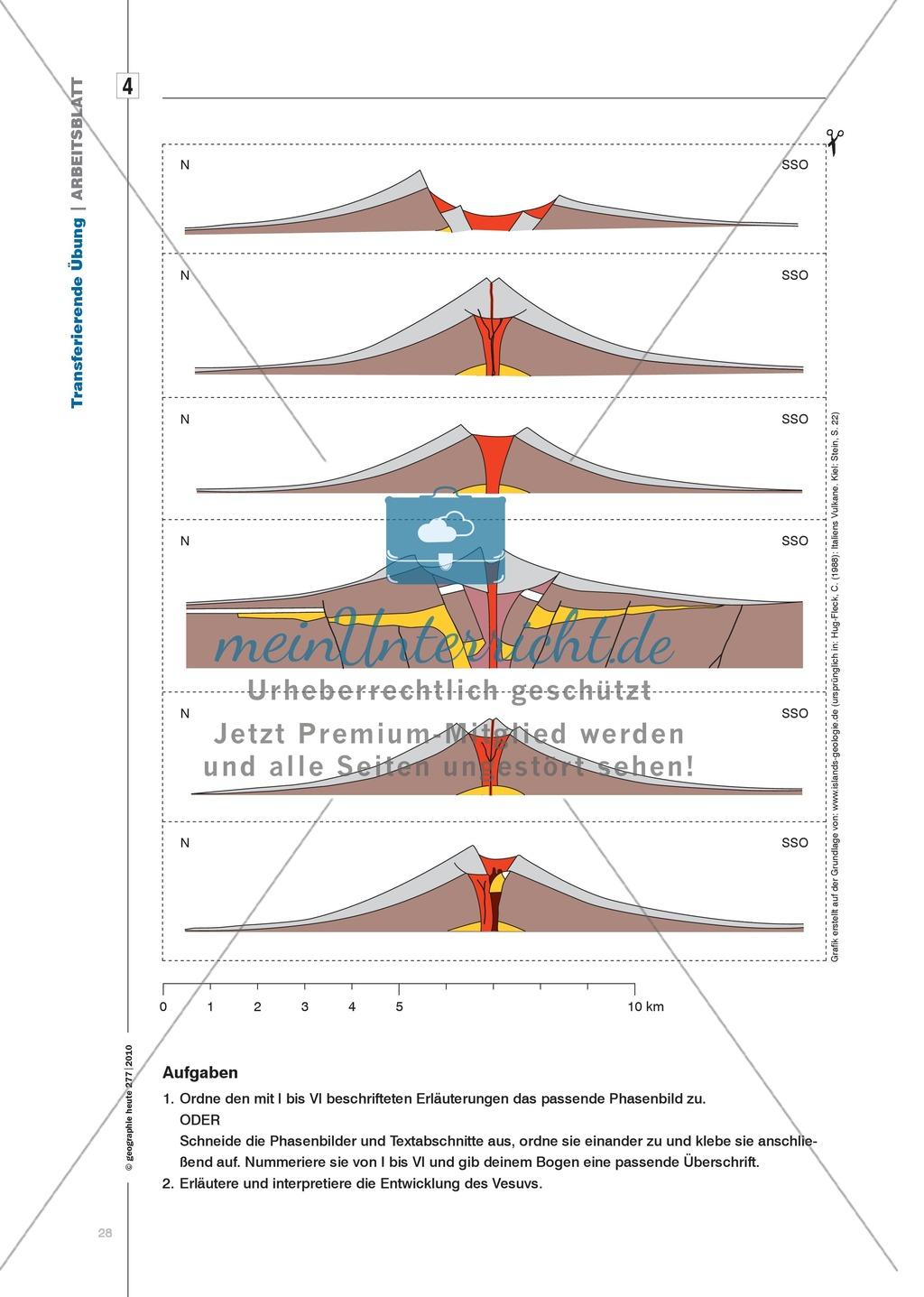Gestufte Übungen: Wissen zum Thema Vulkanismus festigen Preview 6