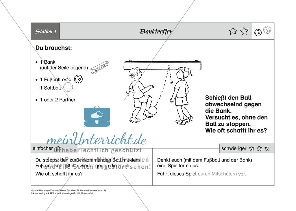 Fußball/Volleyball: Stationenlernen zu den Grundspielarten ...