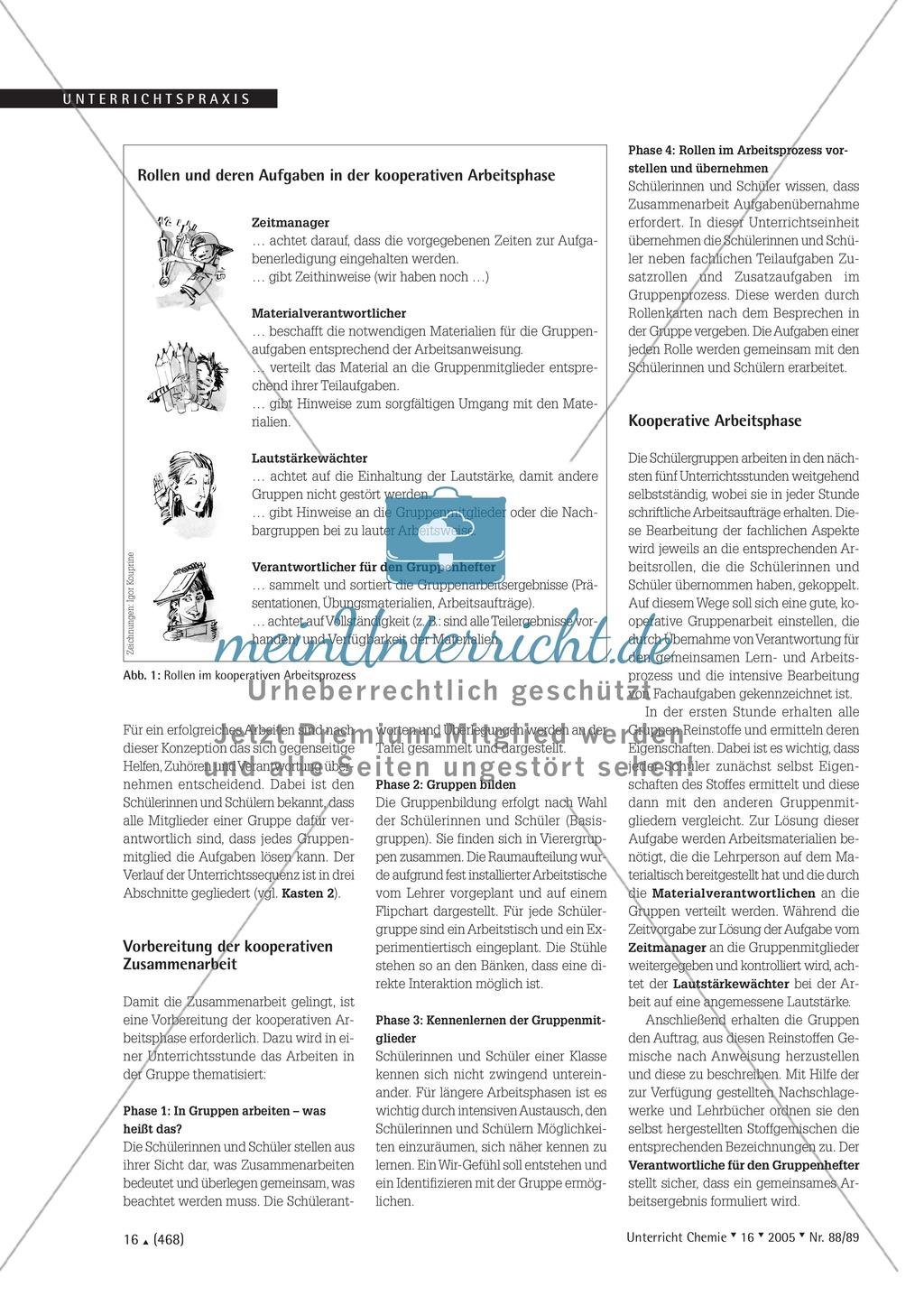 Kooperatives Lernen nach dem DAB-Prinzip - Stoffgemische und Trennverfahren Preview 1