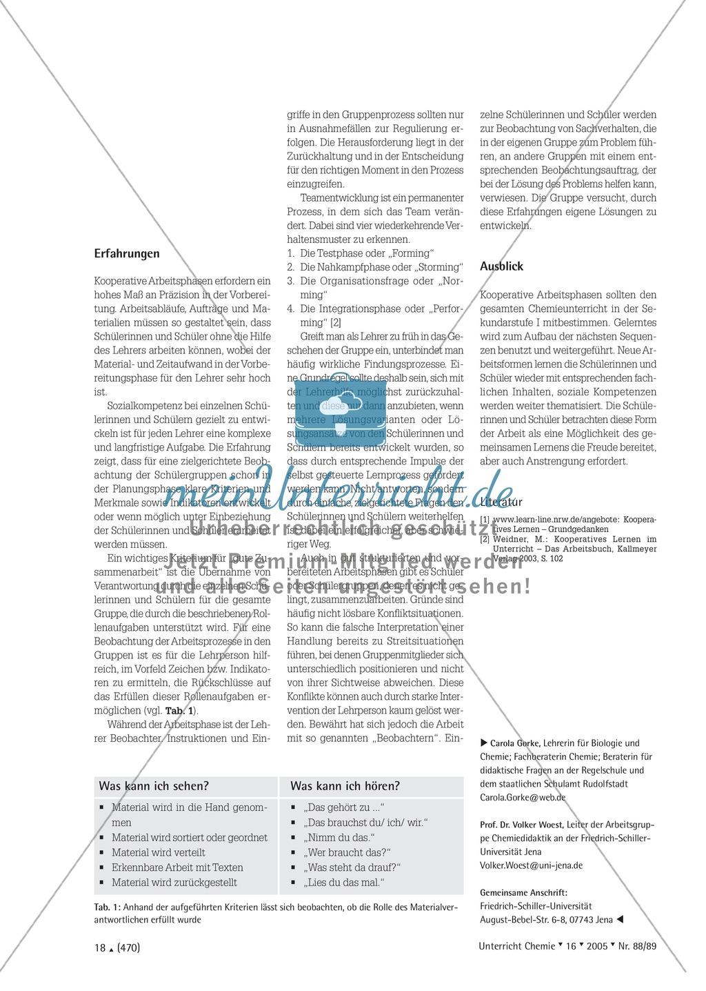 Kooperatives Lernen nach dem DAB-Prinzip - Stoffgemische und Trennverfahren Preview 3