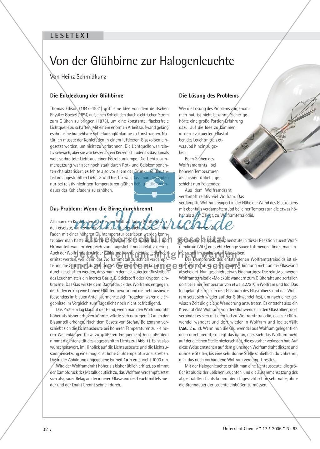 Chemische Reaktion von Wolfram mit Sauerstoff am Beispiel einer defekten Glühbirne Preview 4