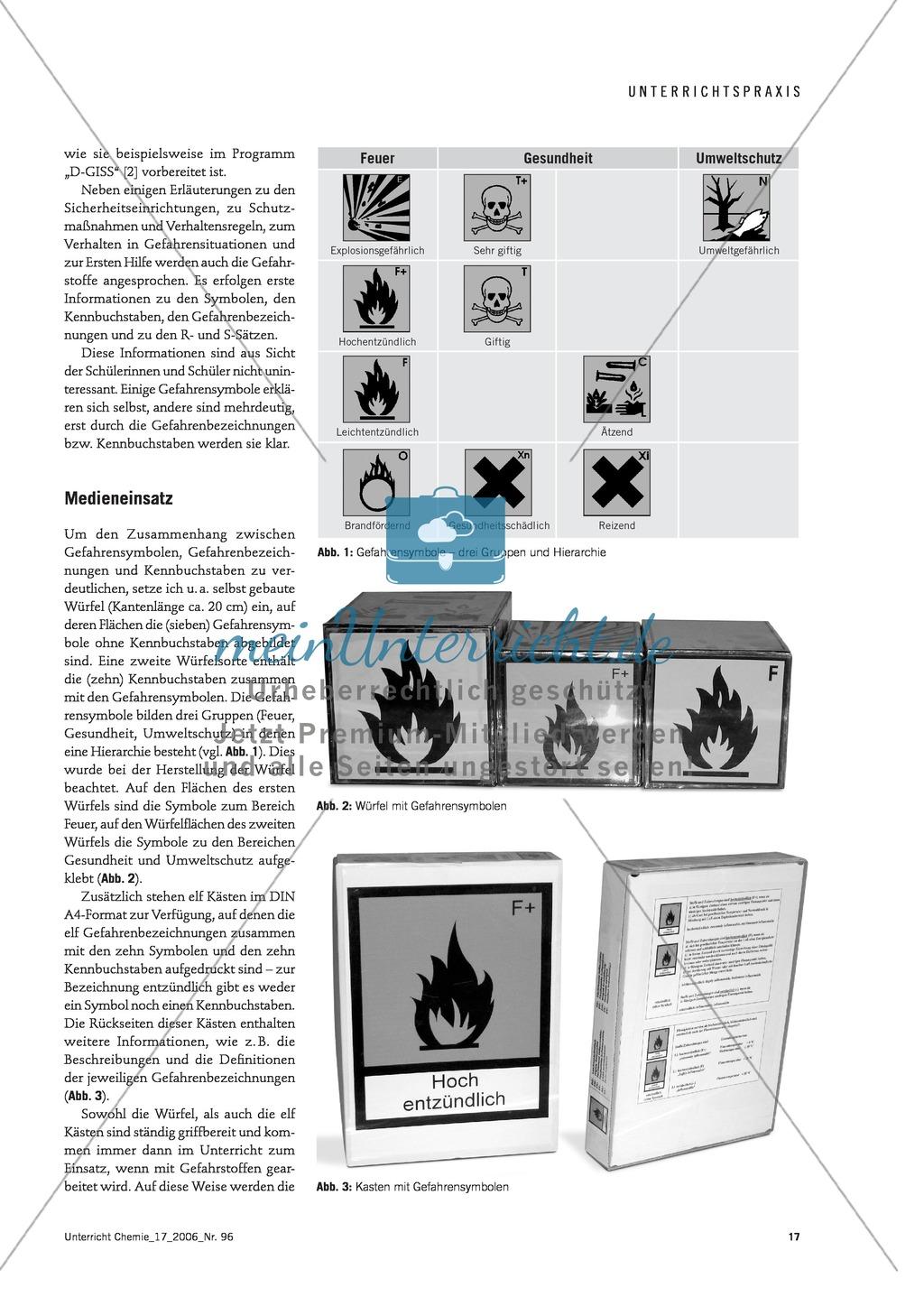 Der Umgang mit Gefahrstoffen im Chemieunterricht - die Gefahrstoffverordnung Preview 1