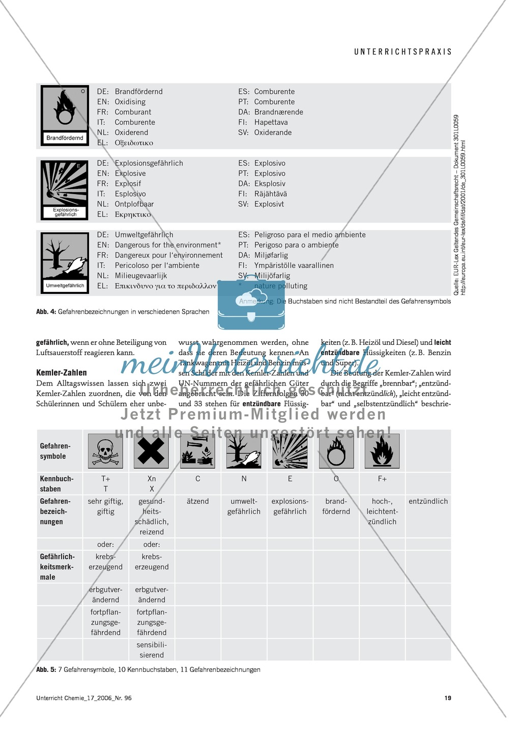 Der Umgang mit Gefahrstoffen im Chemieunterricht - die Gefahrstoffverordnung Preview 3