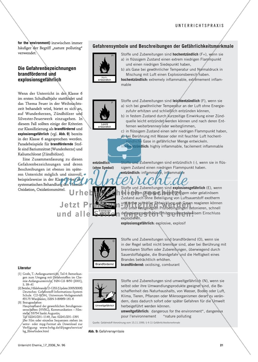 Der Umgang mit Gefahrstoffen im Chemieunterricht - die Gefahrstoffverordnung Preview 5