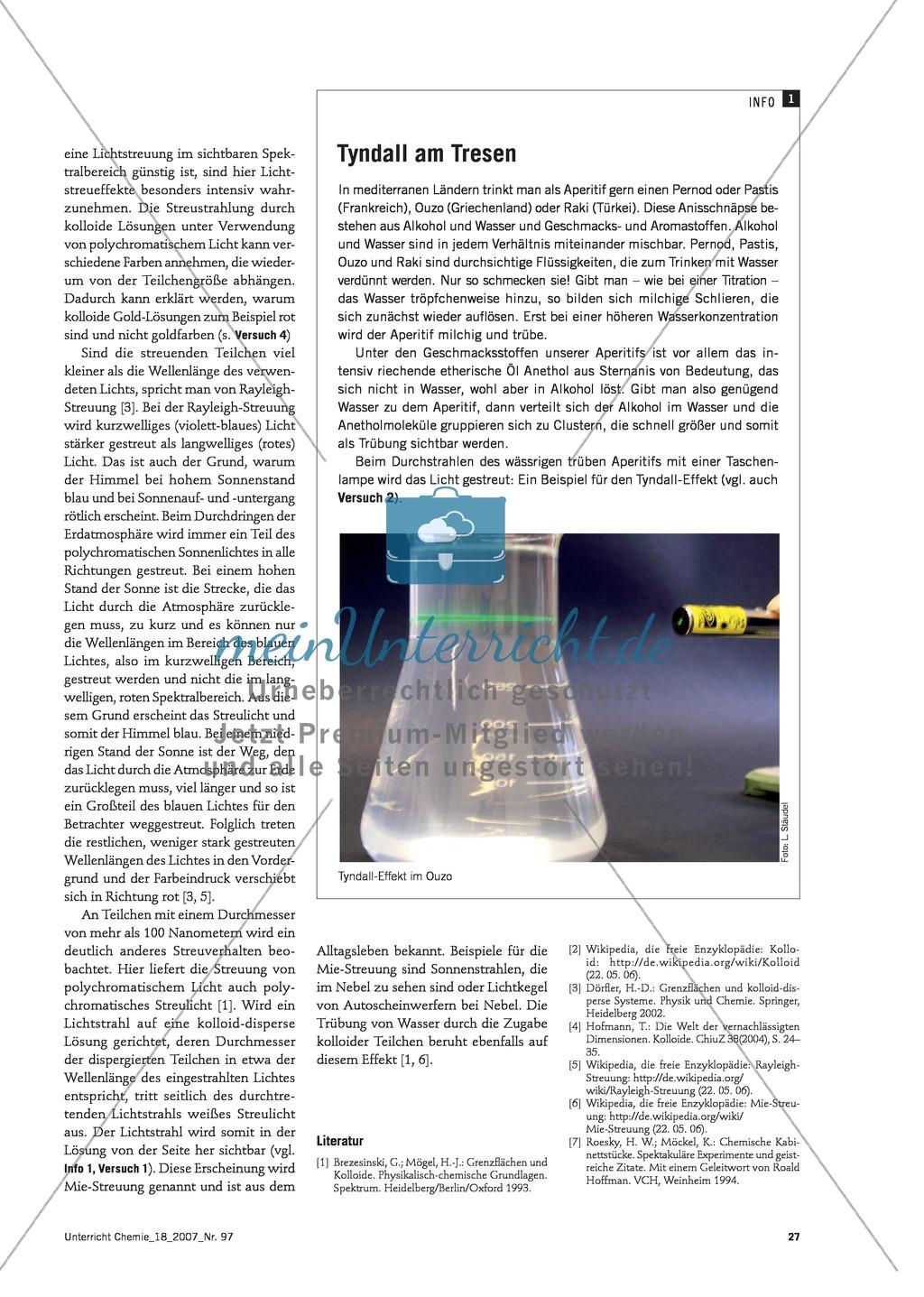 Nano-Partikel sichtbar machen: Kolloide und Emulsionen + Tyndall-Effekt Preview 1