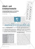 Alkali- und Erdalkalimetalle - Anknüpfungsmöglichkeiten zur Vermittlung von Basiswissen im Chemieunterricht Preview 1