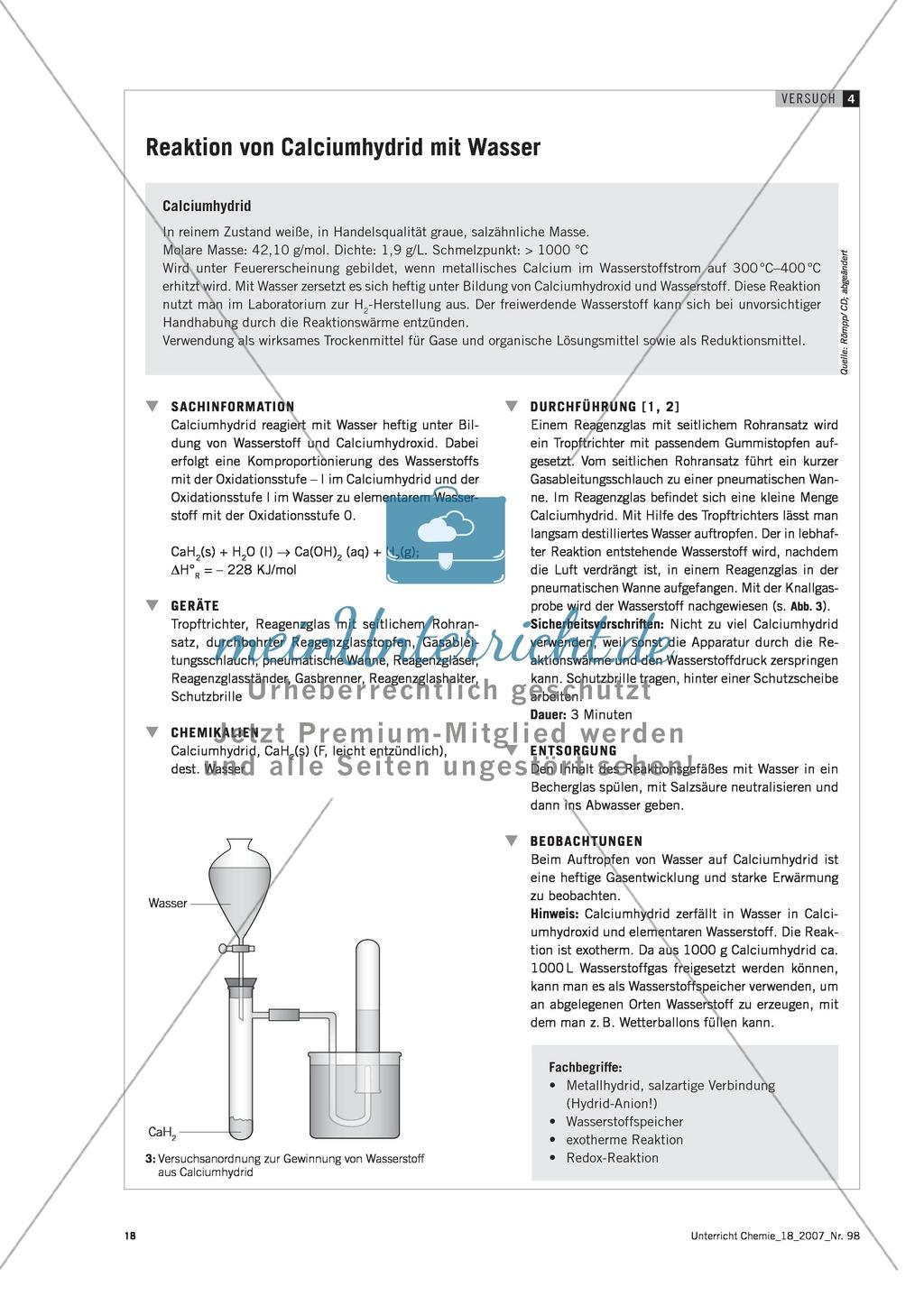 Herstellung von Kalkwasser - Experimente für einen Unterrichtseinstieg Preview 4