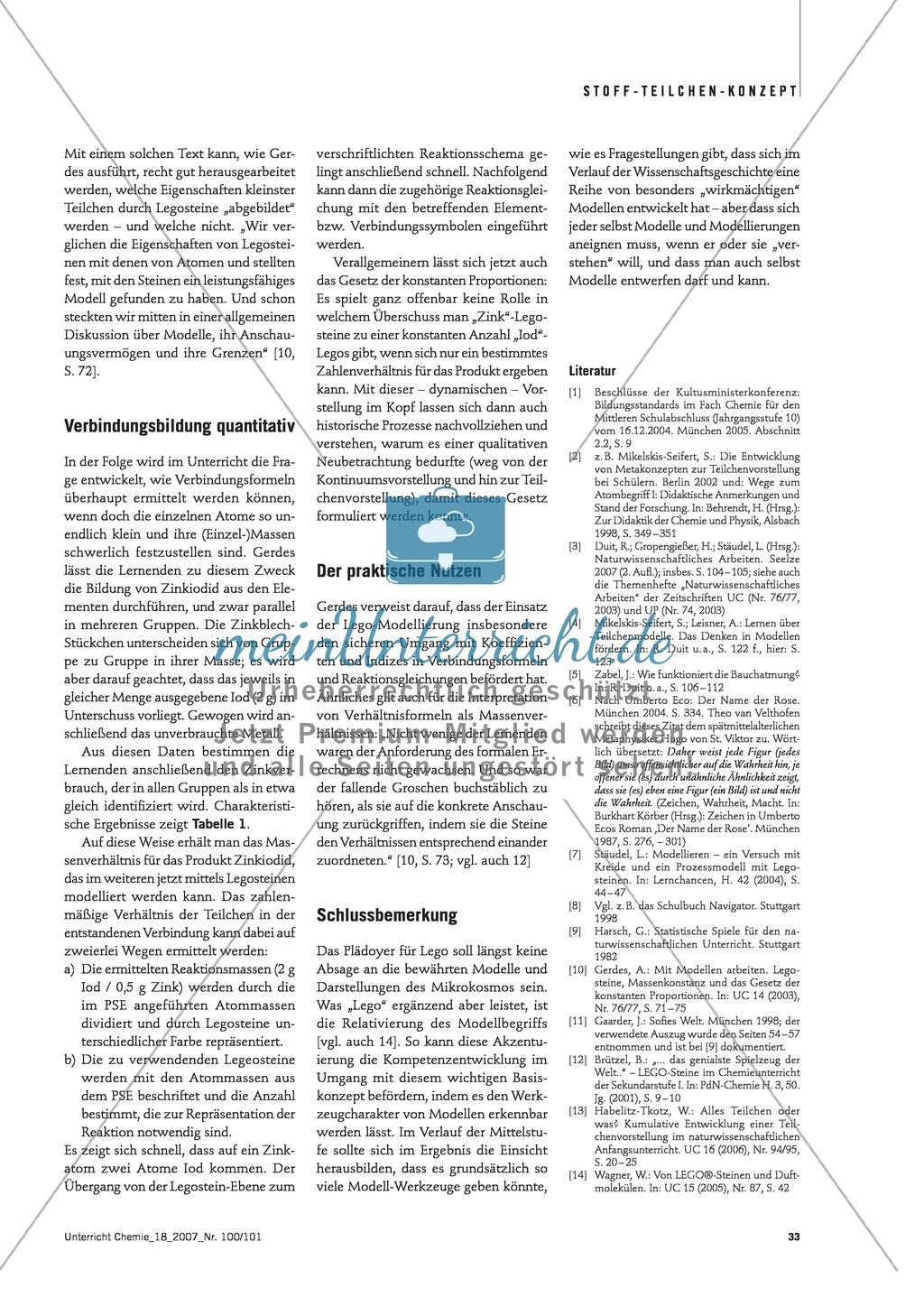 Modellieren: Legosteine und Teilchenkonzept - Kreidechromatographie + Gesetz der konstanten Proportionen + Zellatmung Preview 5