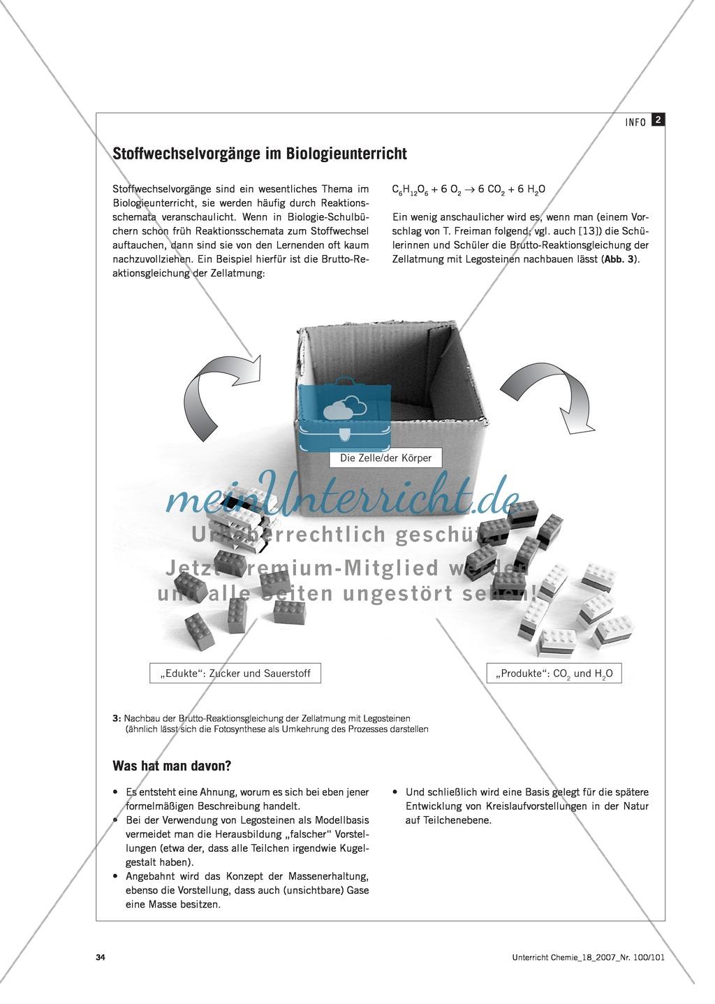 Modellieren: Legosteine und Teilchenkonzept - Kreidechromatographie + Gesetz der konstanten Proportionen + Zellatmung Preview 6