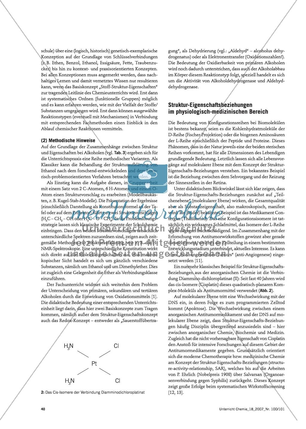 Infotext: Struktur-Eigenschafts-Konzept: Lehrplankonzept Organische und Anorganische Chemie Preview 4