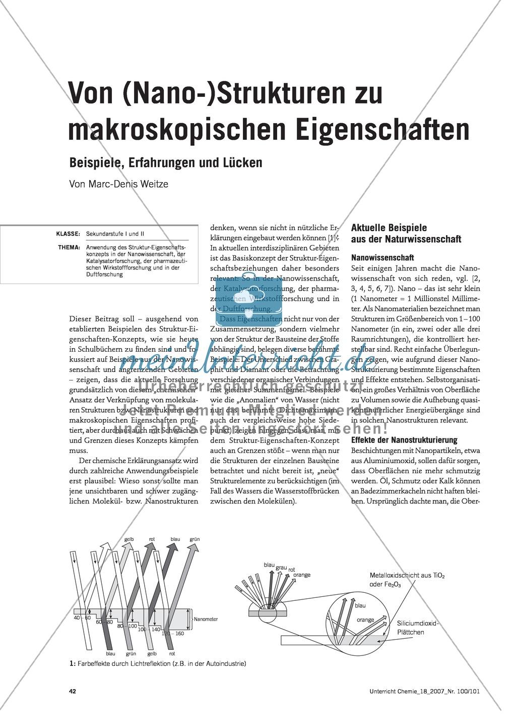 Infotext: Von Strukturen zu makroskopischen Eigenschaften - Beispiele, Erfahrungen, Lücken Preview 0
