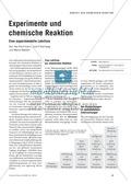 Chemie, Allgemeine Chemie, Chemiedidaktik, Chemische Reaktion, Experiment