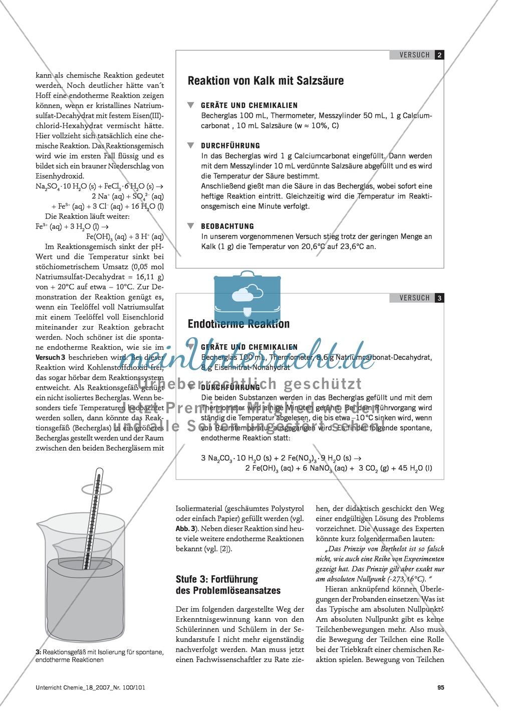 Energetische Betrachtung chemischer Reaktionen im  historisch-problemorientierten Unterrichtsverfahren Preview 3
