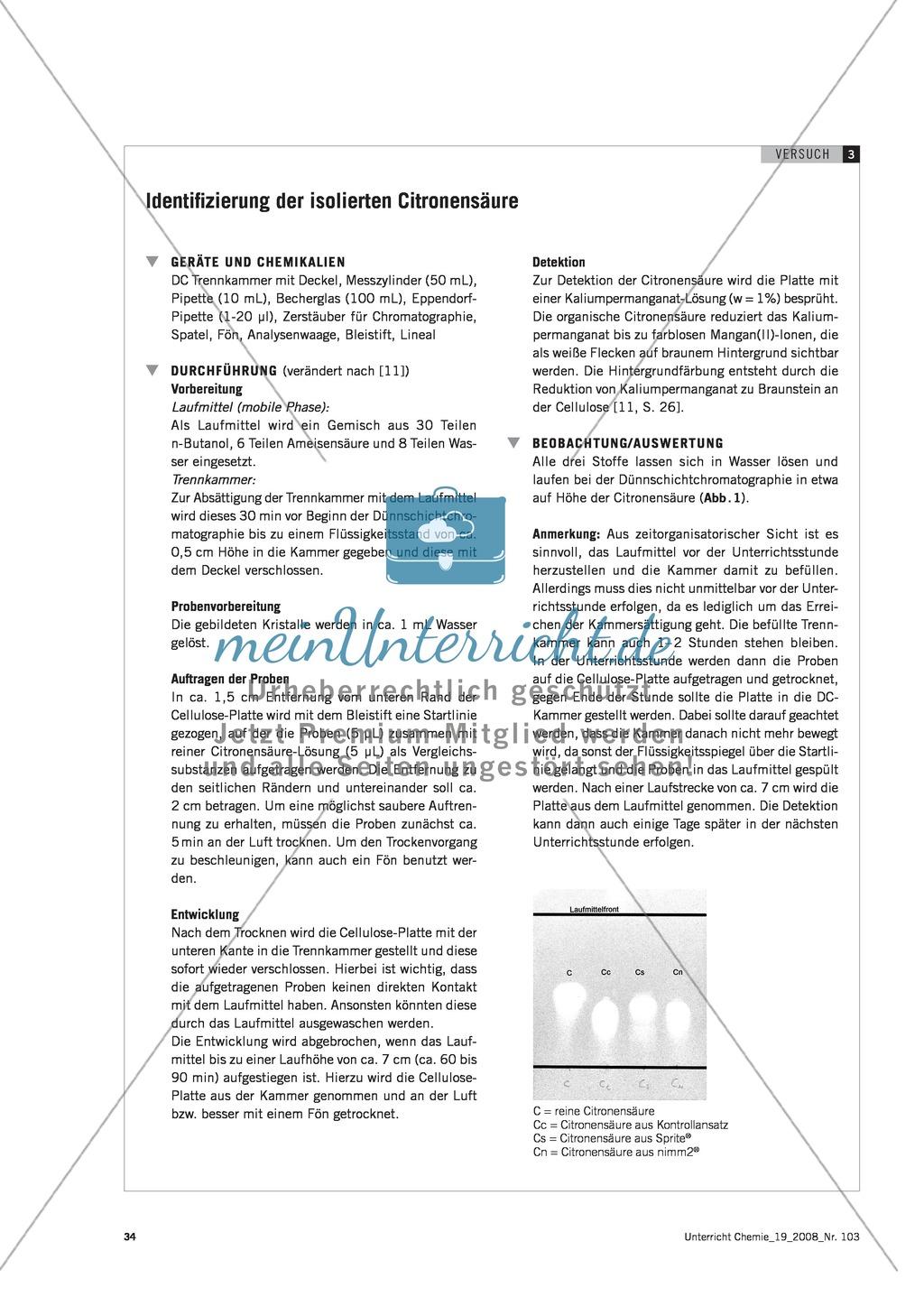 Citronensäure in Lebensmitteln - Experimente mit Sprite und nimm2 Preview 4