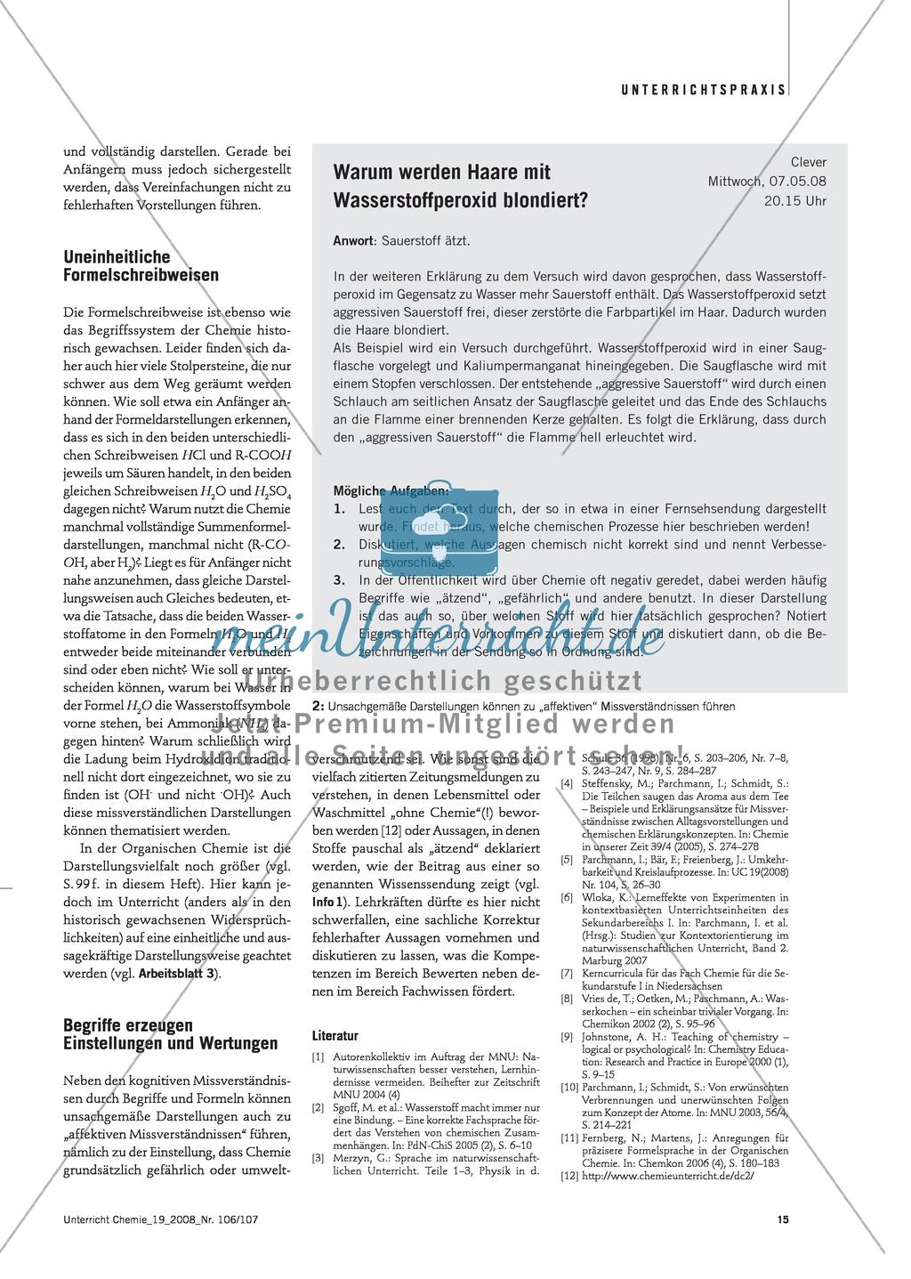 Die chemische Fachsprache - Mehrdeutigkeit von Alltagssprache + Formelsprache Preview 6