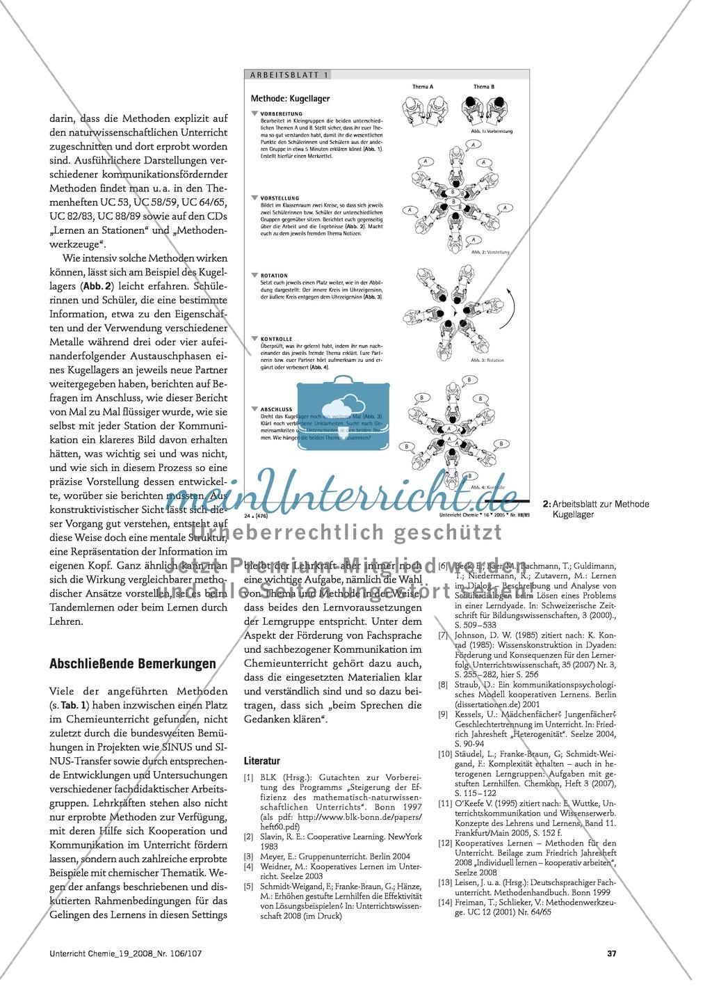 Verschiedene Methoden zur Förderung von Kommunikation im Chemieunterricht Preview 2