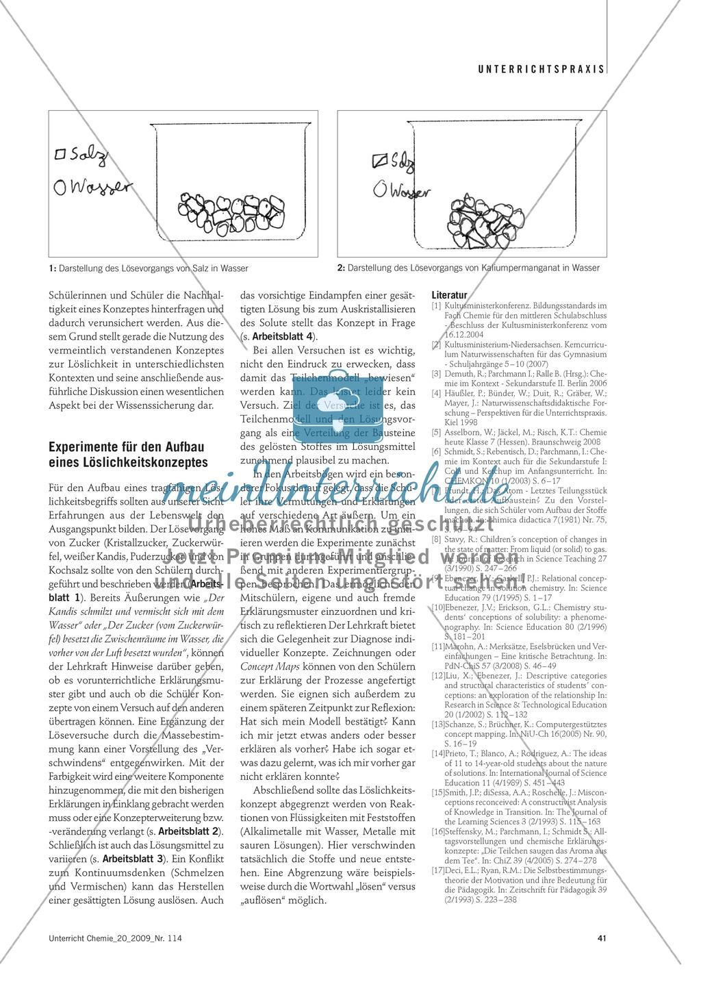 Lösevorgänge verstehen und erklären + Schülervorstellungen zum Löslichkeitskonzept Preview 3