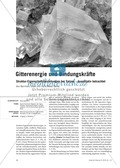 Quantifizierender Vergleich der Eigenschaften verschiedener Salze und Interpretation mithilfe des Aufbaus der Ionengitter Thumbnail 0