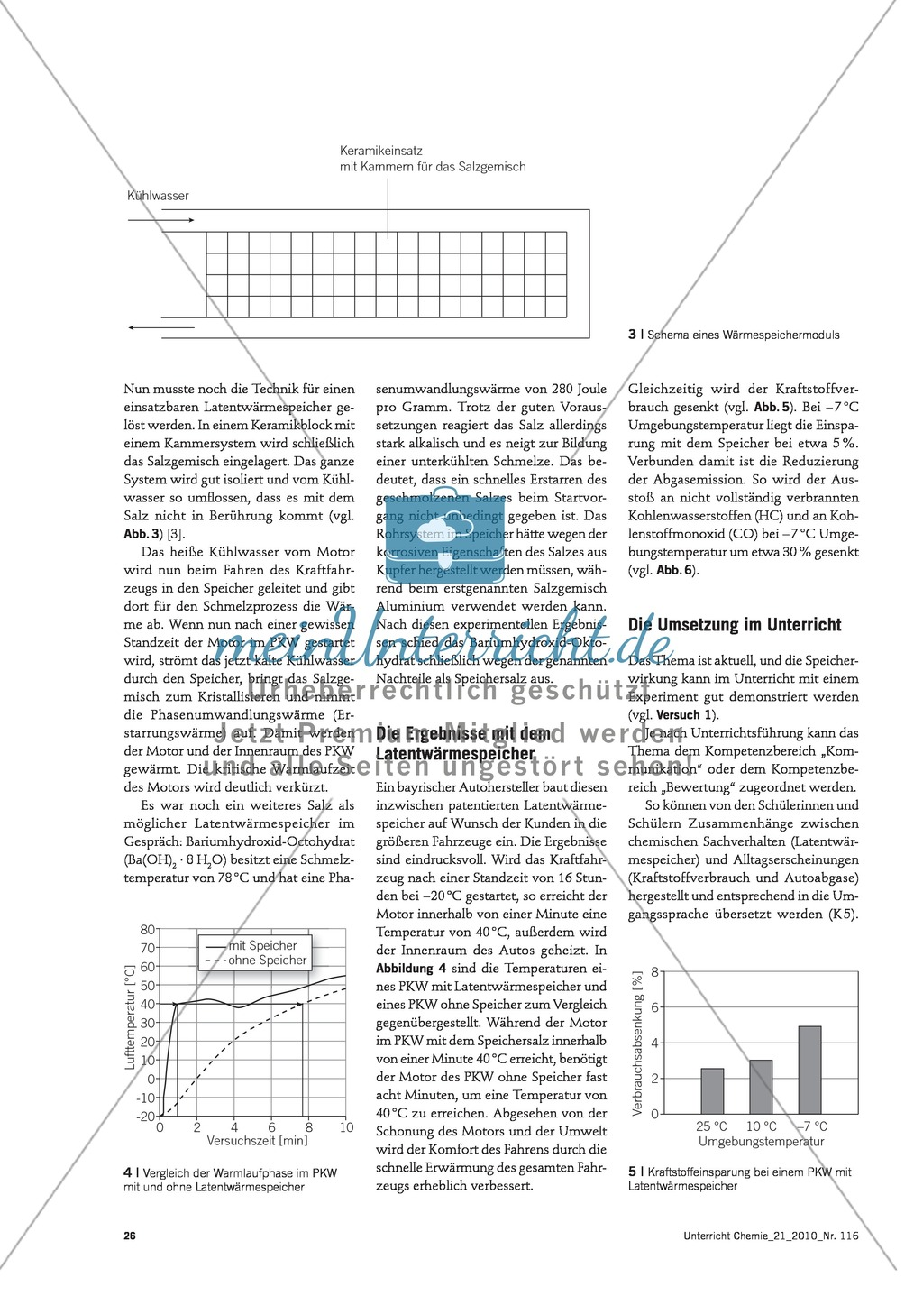 Latentwärmespeicher in Kraftfahrzeugen - Funktion, Material und Umsetzung im Unterricht Preview 2
