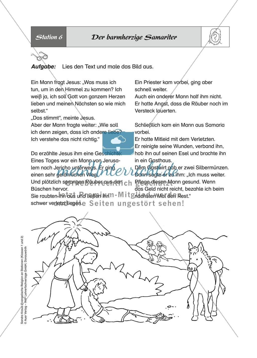 Figuren aus dem AT: Der barmherzige Samariter - eine Geschichte über die Nächstenliebe Preview 0