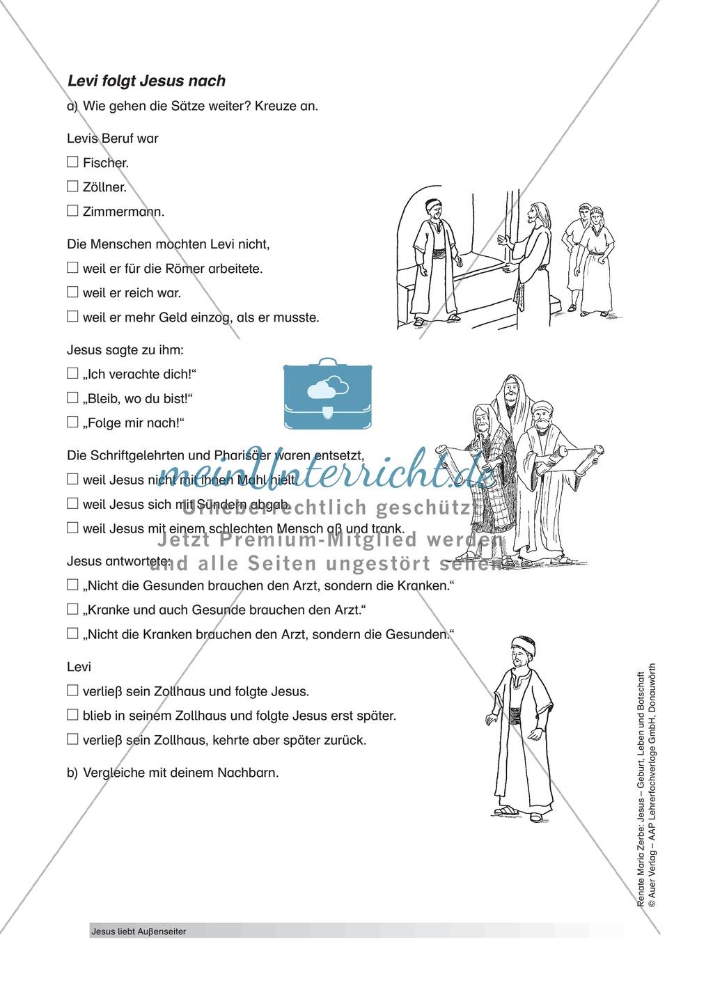 Jesus: Levi und Zachäus - meinUnterricht
