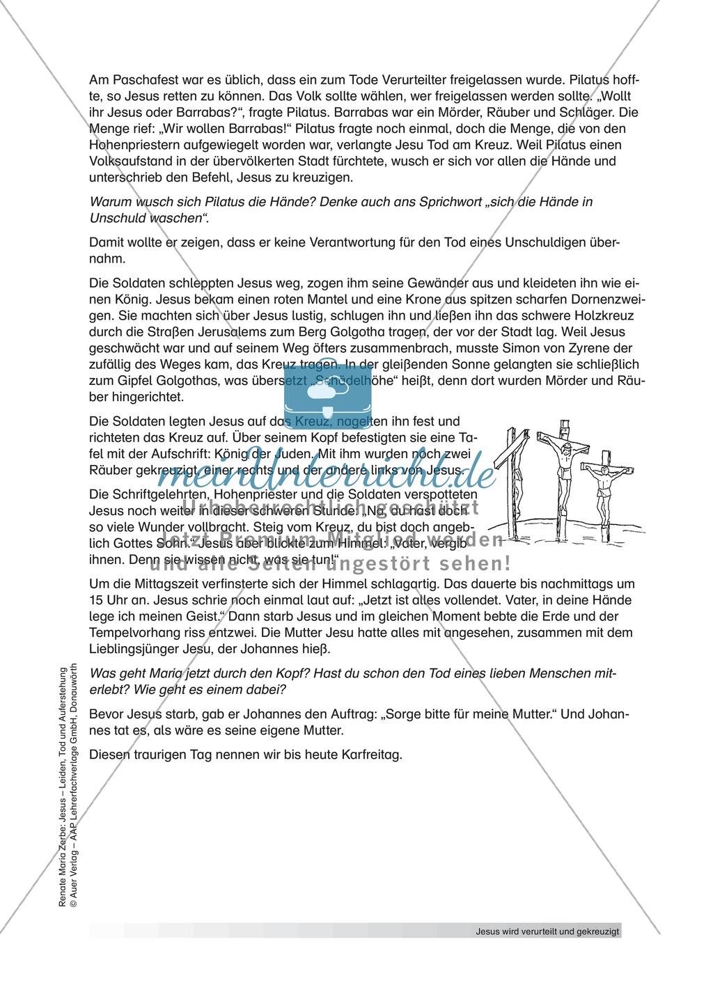 Jesus: Die Kreuzigung + Lehrerinformationen + Unterrichtsideen Preview 2