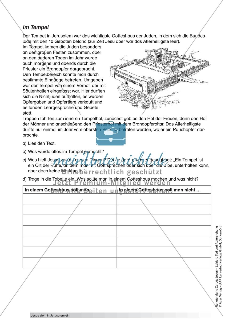 Jesus: Unterrichtsvorschlag zum Thema Palmsonntag + Lehrerinformation + Arbeitsblätter Preview 5