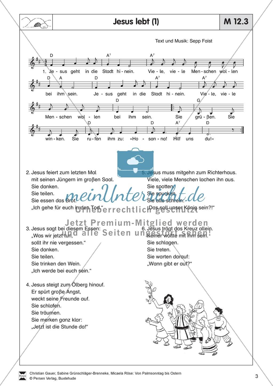 Von Palmsonntag bis Karfreitag - Bodenbild mit Erzählung + Lied Preview 2