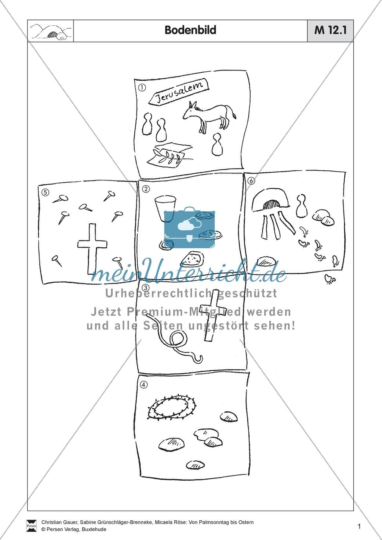 Material für die Passions- und Ostergeschichte - Bodenbilder, Erzählungen, Lieder Preview 0