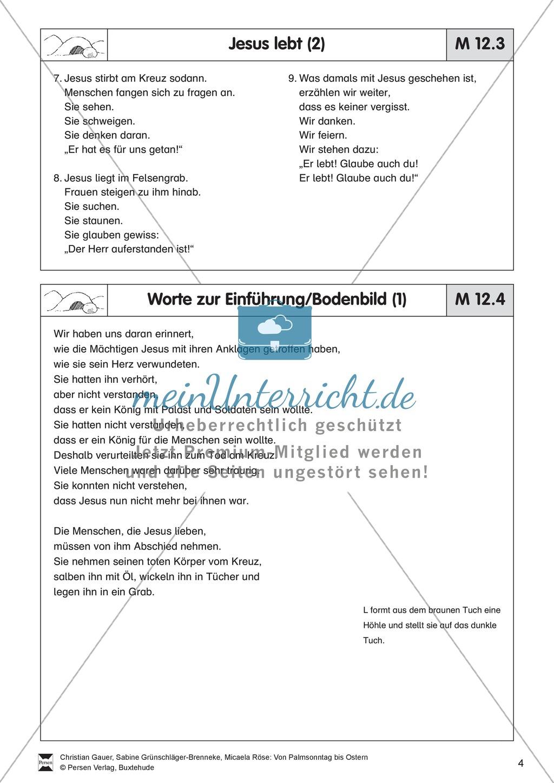 Material für die Passions- und Ostergeschichte - Bodenbilder, Erzählungen, Lieder Preview 3