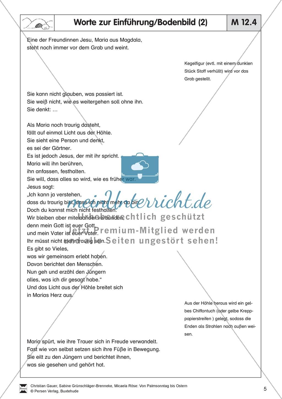 Material für die Passions- und Ostergeschichte - Bodenbilder, Erzählungen, Lieder Preview 4