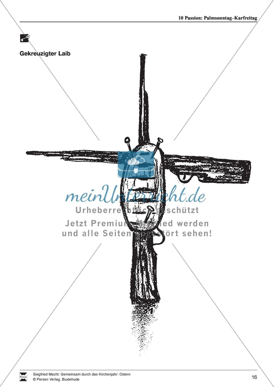 Passion - Palmentanz, Kanon, wortspielerische Meditation, Meditationskarton Preview 9