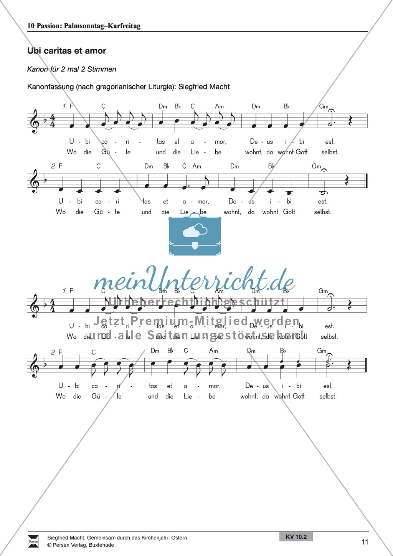 Passion - Palmentanz, Kanon, wortspielerische Meditation, Meditationskarton Preview 4