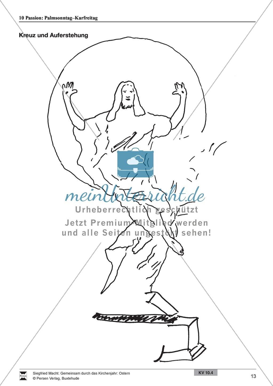Passion - Palmentanz, Kanon, wortspielerische Meditation, Meditationskarton Preview 6