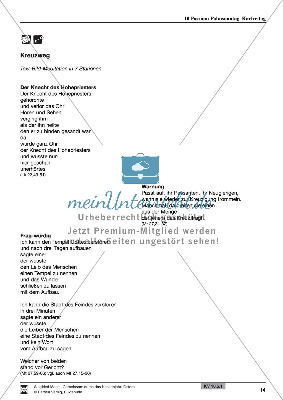 Passion - Palmentanz, Kanon, wortspielerische Meditation, Meditationskarton Preview 7