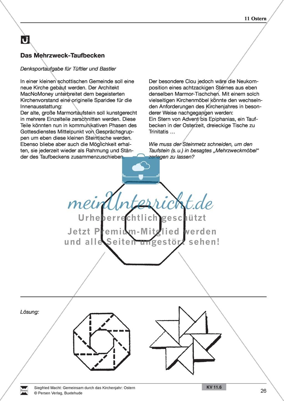 Ostern - Rezept für Brezeln und Hefezopf, Lieder, Oster-Fangen, Basteln, Denksportaufgabe Preview 9