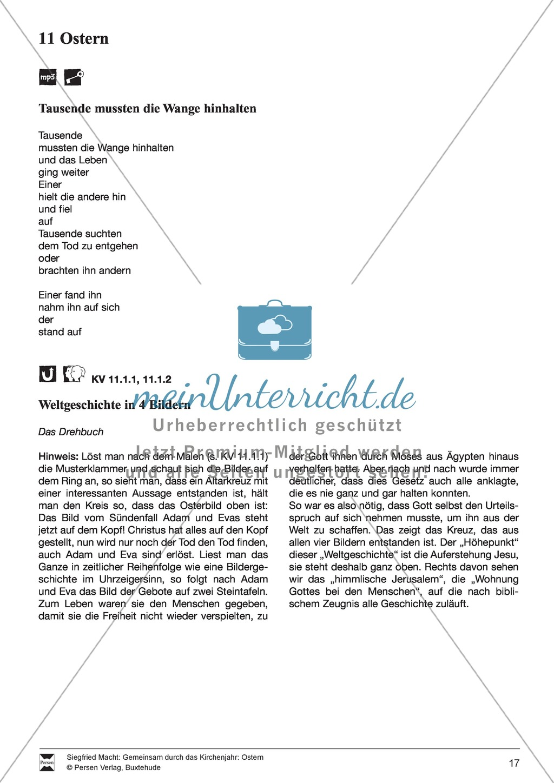 Ostern - Rezept für Brezeln und Hefezopf, Lieder, Oster-Fangen, Basteln, Denksportaufgabe Preview 0