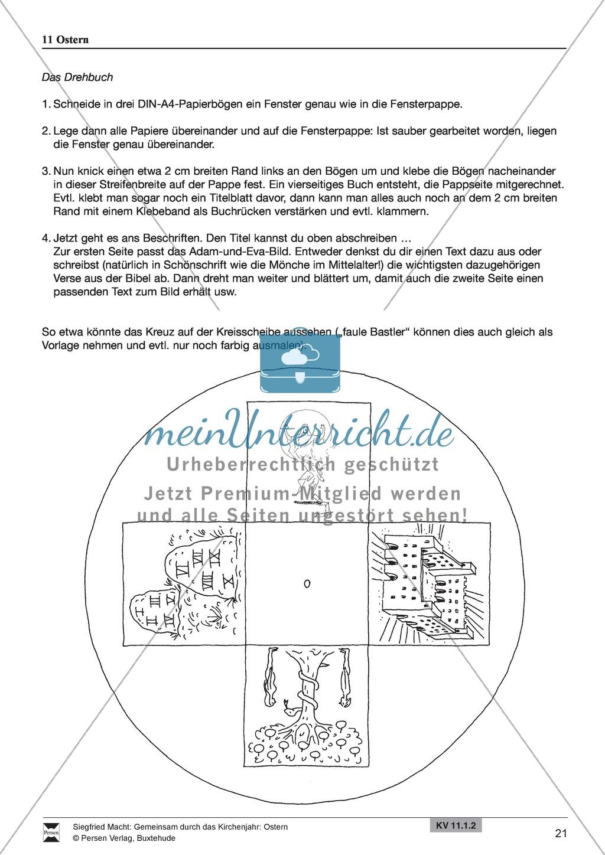 Ostern - Rezept für Brezeln und Hefezopf, Lieder, Oster-Fangen, Basteln, Denksportaufgabe Preview 4