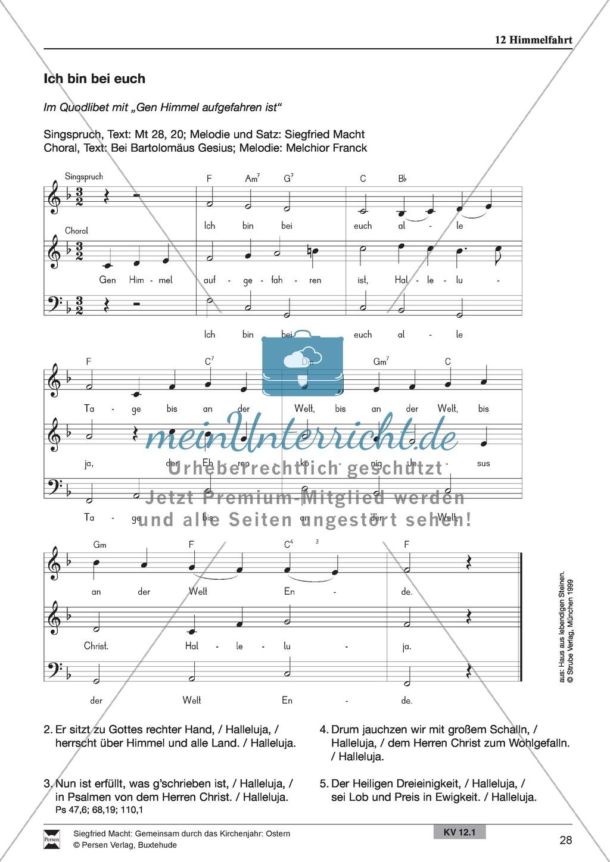 Himmelfahrt - Textmeditation, Lieder, Löwenzahnpredigt Preview 1